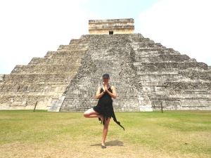 Tree Pose at chichen itza