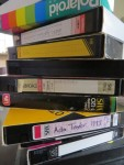 Aging VHS cassette with precious memories.